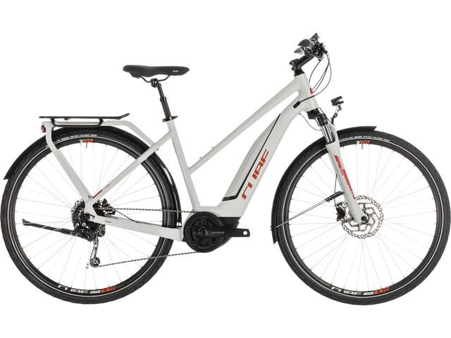 Cube Touring Hybrid 400 E-trekkingcykel Trapez grå (2019) | City
